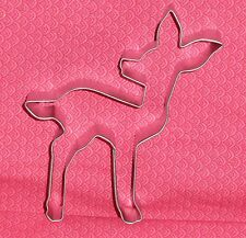 "Fawn,Deer,Metal Cookie Cutter,4.5"".Woods, Bambi,OTBP,Disney,Sturdy Metal"