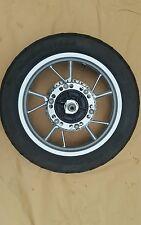 BMW F650 GS REAR WHEEL Brake disc spindle Bridgestone tyre 140/80R17