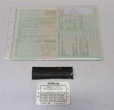 Aprilia SportCity 250 Brief mit Fahrgestellnummern + Typenschild