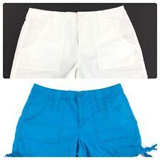 Alpine Women's Shorts Blue White Lot of 2 Cotton Cotton Stretch Size 8