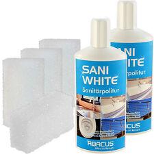 SANI WHITE SET 2x 500 ml + Zubehör Sanitärreiniger Badreiniger Sanitärpolitur