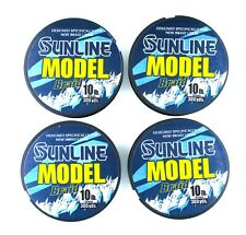 (4) Spools Sunline Model Braid 10 Lb Green Braided Line (300 Yds Per Spool) New