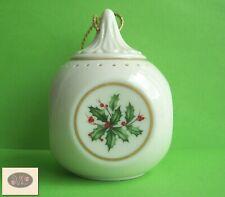 "Lenox Holiday China Sachet/ Potpourri Christmas 3"" Ornament"