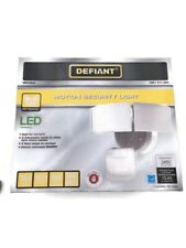 Defiant LED motion security light- 3-Head, white, outdoor, wired, new 270 degree