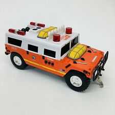 VTG TONKA FIRE RESCUE SQUAD HUMMER TOY TRUCK with LIGHTS SIREN & WORKING WINCH