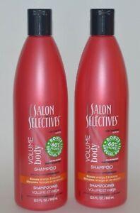 LOT OF 2 SALON SELECTIVES VOLUME BODY SHAMPOO HAIR COLOR PROTECT 22.5 OZ EACH
