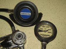 vintage SCUBAMASTER scuba dive regulator + pressure gauge