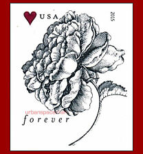 4959a Vintage Rose Forever Rate Imperf Single Stamp from Press Sheet No Die Cuts
