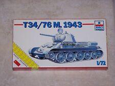 Maquette ESCI/ ERTL 1/72ème T34/76 M.1943 n° 8335