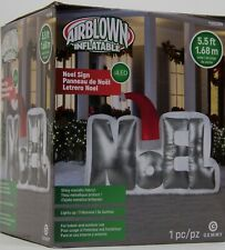 Gemmy 5.5 ft Christmas Lighted Noel Sign Airblown Inflatable NIB