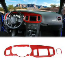 84 Inches Red Abs Dash Speedometer Panel Cover Trim For Dodge Charger 2015 2020