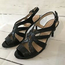 "Antonio Melani ""Karissa"" Women's Size 8 M Black Open Toe High Heel Sandals"
