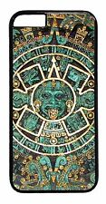 Aztec Calendar Mayan Pattern Case iPhone6 Plus 5 5S 5C 4 4S TPU Rubber or Hard