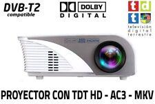 Proyector con TDT, USB, HDMI, VGA, AC3 Lámpara de 50.000 horas de duración NUE