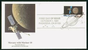 Mayfairstamps US FDC 1991 Mercury Mariner 10 First Day Cover wwp_58569