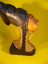 ASIAN-KAYAN LAHWI-LONG NECK WOMAN-WOOD CARVED STATUE-TIBET/BURMA-OUTSTANDING