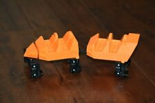 Two K'NEX Screamin Serpent Roller Coaster Cars Train Replacement Parts KNEX
