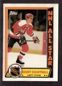 TOPPS 1989-90 STICKERS # 9 GEOFF COURTNALL, WASHINGTON CAPITALS !! D6