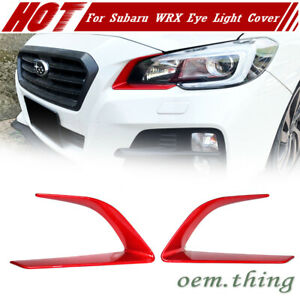 2015-2016 For SUBARU WRX STI 4th Front Headlight Eye Trim Cover Painted Red