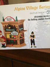 Dept 56 Alpine Village Christmas Market, Holiday Smoker Booth Nib