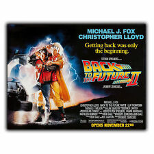 BACK TO THE FUTURE II 2 METAL SIGN WALL PLAQUE Film Movie Advert poster mancave