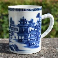 18th Century Chinese Export Blue & White Tankard Qianlong / Jiaqing