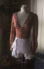 Leopard Blouse/ Balloon Sleeve / XS