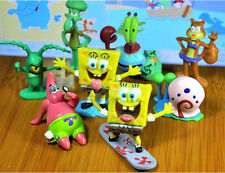 8Pcs Set Sponge Bob Square pants PVC Figures Cute Toys Cut Patrick Squidward New
