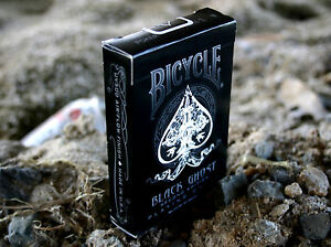 Bicycle Ellusionist Black Ghost Magic Second Edition Playing Cards NEW SEALED