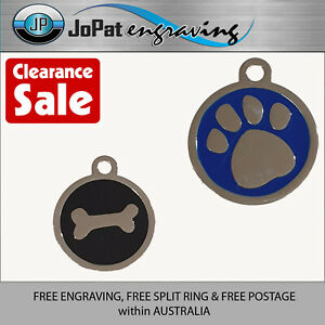 Deluxe Pet Tag Pet ID Dog Kitten Puppy Cat Name Pet Tags CLEARANCE ITEMS SALE
