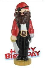 Celebration Cake Topper Happy Birthday & Pirate Figure, 1 All Occasions