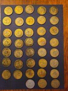 1997 Pinnacle Mint NFL 38-Coin Lot - Rice, Sanders, Elway, Smith, etc.
