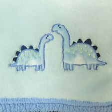Baby Gear Baby Blanket Boys Blue Dinosaur Plush Sherpa Embroidered Brontosaurus