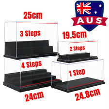 AU Acrylic Display Box Clear Case Plastic Base 1/2/3/4 Steps Dustproof Figures
