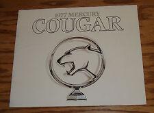 Original 1977 Mercury Cougar White Sales Brochure 77 XR-7