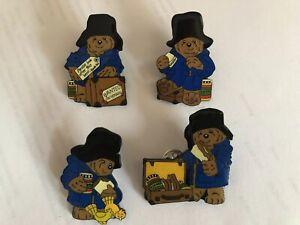 Paddington Bear Set Of 4 Enamel Pin Badges