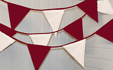 Burgundy and White bunting * 10 mtr * Party / Birthday / Wedding / Christmas