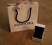 Genuine Small Pandora ring or charm box and gift bag