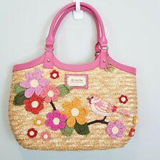 [ CHE CHE New york ] Womens Sequins Bird Straw Bag / Handbag - NEW