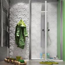 Box doccia 70x70 cm angolare apertura saloon con parete fissa in cristallo opaco
