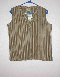 NWT CABELA'S Size S Fits M TANK Top SLEEVELESS Pullover MADISON Cobblestone