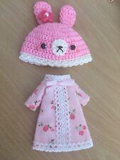 Sombrero y vestido fijó para muñeca Blythe middie