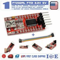 FT232RL 3.3V 5.5V FTDI USB to TTL Serial Adapter & Dupont Cable For Arduino Pro