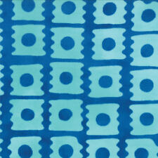 Moda ' From Outside In  Malka Dubrawsky Geometric Blue Block Fabric Fat Quarter