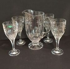 Shanon Crystal Wine Water Pitcher With 4 Glasses Goblets Designs Of Ireland Slob