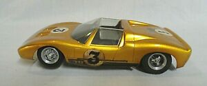 LOOK! 1960`S REVELL READY TO RUN FORD GT40 ROADSTER 1/24 SLOT CAR WITH EXTRAS!