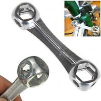 10 in 1 Mini Bicycle Repair Tool Dog Bone Shape Wrench Hexagon Holes Spanner