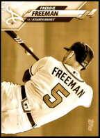Freddie Freeman 2020 Topps Short Print Variations 5x7 Gold #549 /10 Braves