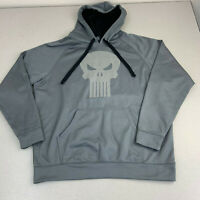 Marvel Punisher Hoodie Mens Large Sweater Gray Long Sleeve Casual