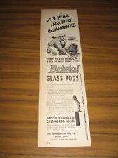 1951 Print Ad Bristol Glass Fishing Rods Horton Bristol CT